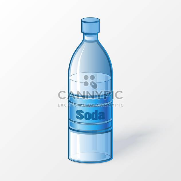 Vector illustration of plastic bottle of soda on white background - Free vector #125760