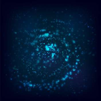 Vector illustration of dark blue space background - Free vector #125830