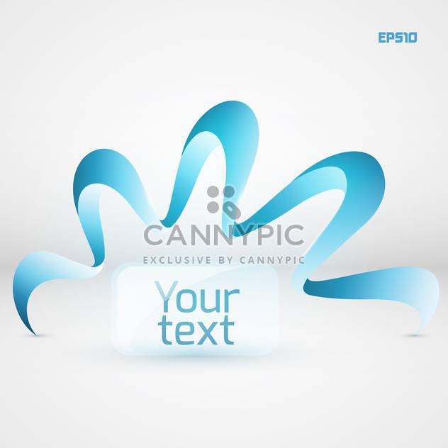 Vector background with curved blue ribbon and text place on white background - Free vector #125910