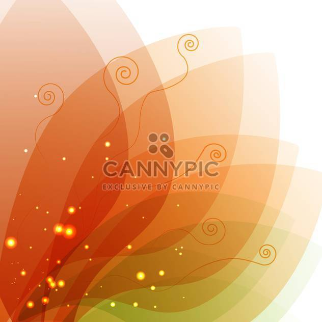 Vector illustration of colorful floral background with magical leaves - Free vector #126010