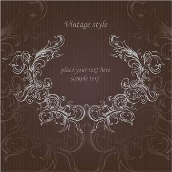 Vector vintage floral background with text place - vector #126050 gratis