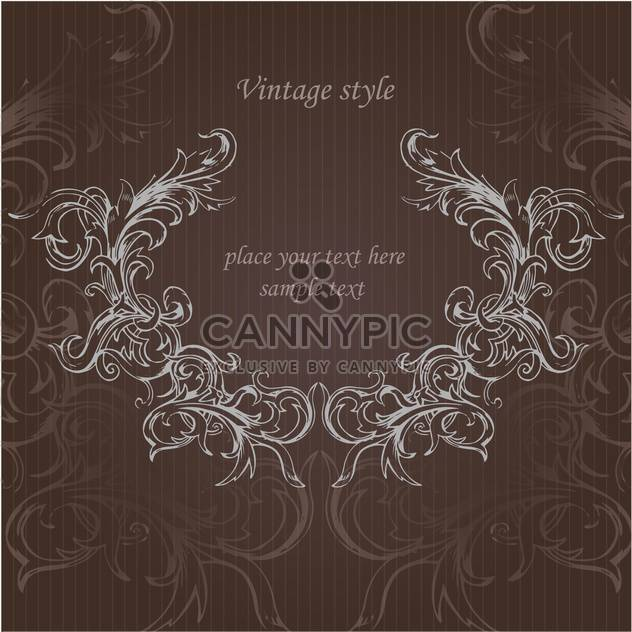 Vektor Vintage floral Background mit Text-Platz - Free vector #126050