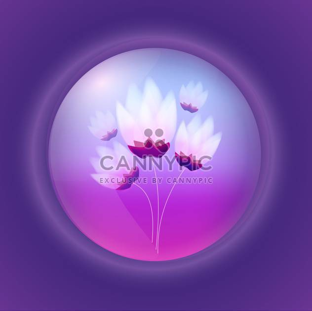Vector illustration of floral background with flowers in bubble - Free vector #126060