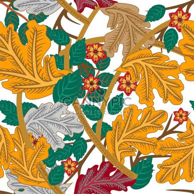 Vektor floral Hintergrund mit schönen verziert Laub auf weißem Hintergrund - Kostenloses vector #126230