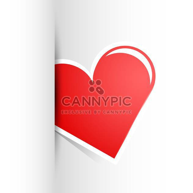 Vector illustration of big red heart on white background - Free vector #126240