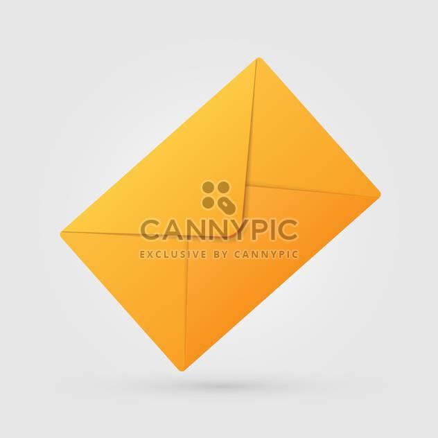 Vektor-Illustration des gelben Umschlag auf weißem Hintergrund - Kostenloses vector #126250