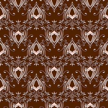 Vector vintage brown baroque background with floral pattern - Free vector #126260