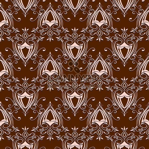 Vektor Jahrgang braun Barock Hintergrund mit Blumenmuster - Free vector #126260