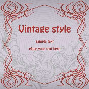 Vector vintage background with text place on grey background - Free vector #126280