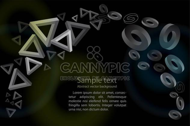 Abstract geometric black background with triangles and circles - Free vector #126320