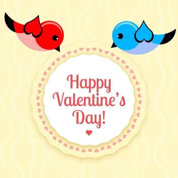 holiday background for Valentine's day with birds - Free vector #126480