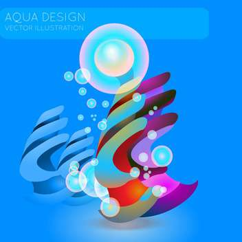 colorful illustration of abstract blue background with bubbles - Free vector #126510