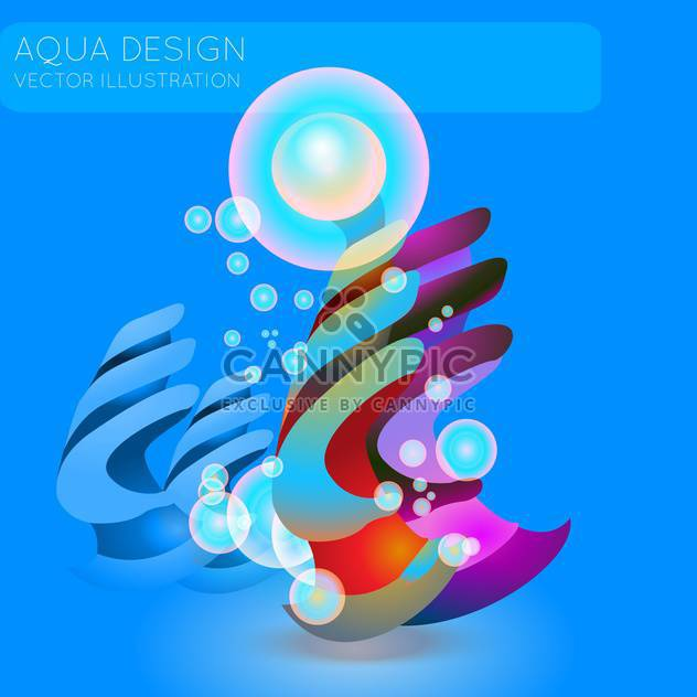 Bunte Illustration des abstrakten blauer Hintergrund mit Blasen - Free vector #126510