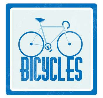 Vector illustration of blue bicycle on blue background - Kostenloses vector #126520
