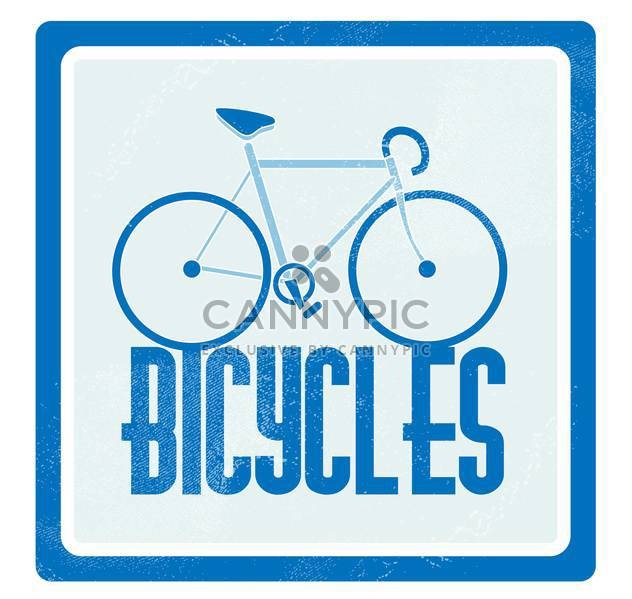 Vector illustration of blue bicycle on blue background - Free vector #126520