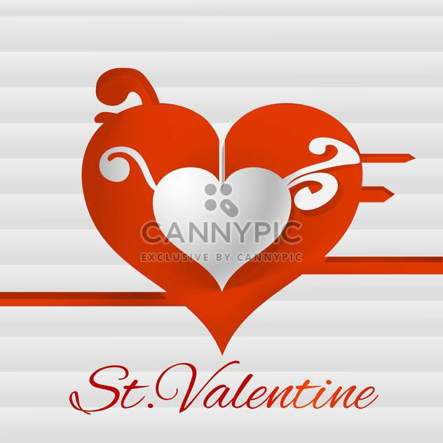 Vector background for Valentine's day card with heart - Free vector #126530