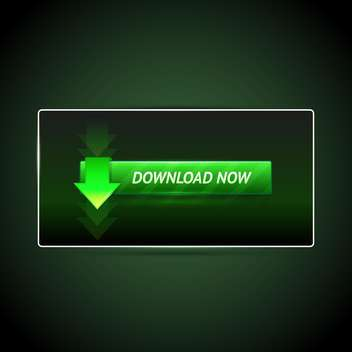 Vector illustration of download button on green background - vector gratuit #126630
