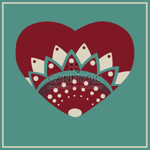 Vector greeting card with floral heart - Free vector #126650