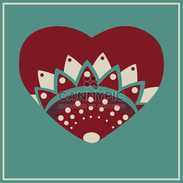 Vektor-Grußkarte mit floralen Herzen - Free vector #126650