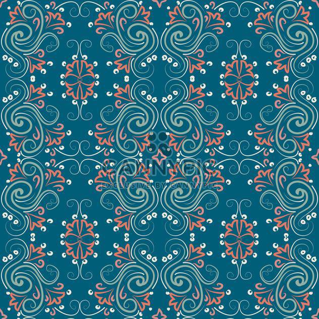 Vector vintage background with floral art pattern - Free vector #126760