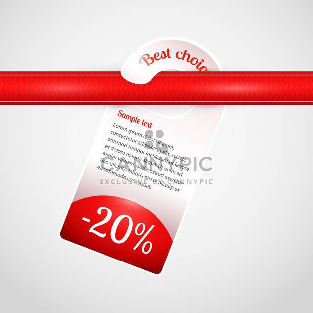 vector mark with best choice message on white background - Free vector #126840