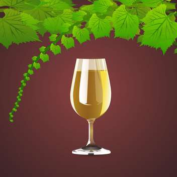 Vector background with wine and leaves of grapes - vector gratuit(e) #126990
