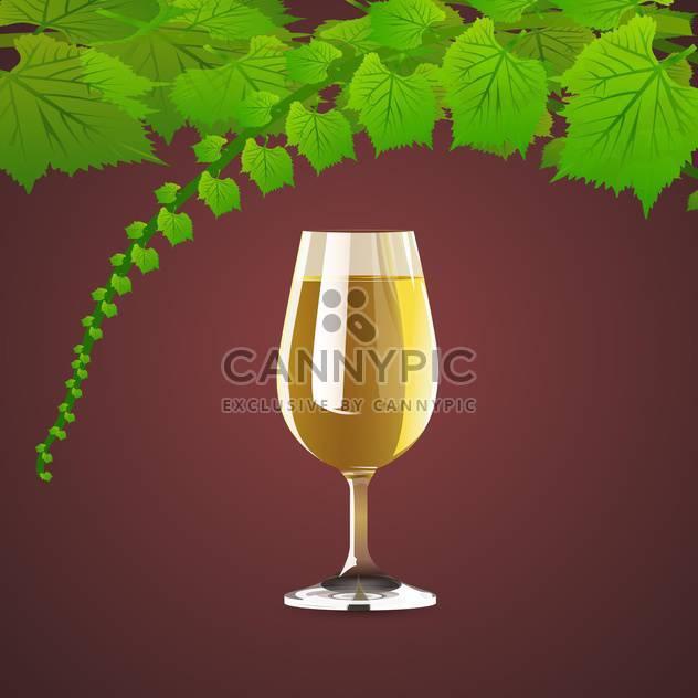 Vektor-Hintergrund mit Blättern von Trauben und Wein - Kostenloses vector #126990