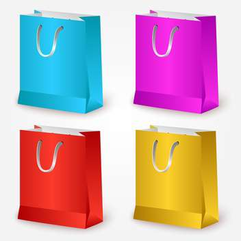 Vector colorful shopping bags on white background - бесплатный vector #127010