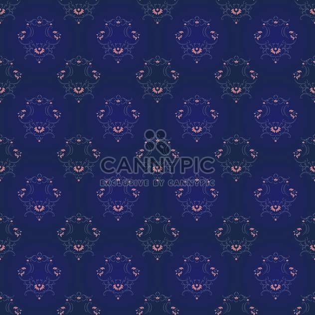 Vector vintage background with art floral pattern - Free vector #127030