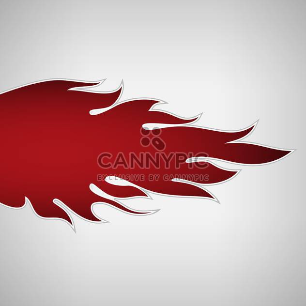 red fire flame on white background - Free vector #127160