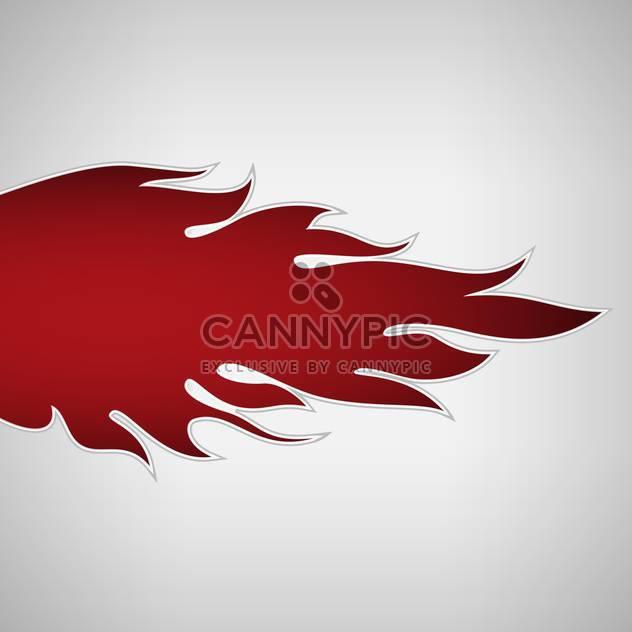Rotes Feuer Flamme auf weißem Hintergrund - Kostenloses vector #127160