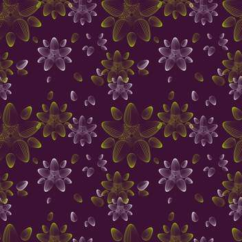 Abstract vector background with floral pattern - vector gratuit #127270