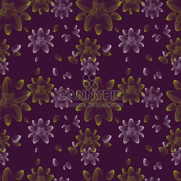 Abstraktes Vektor Hintergrund mit Blumenmuster - Kostenloses vector #127270