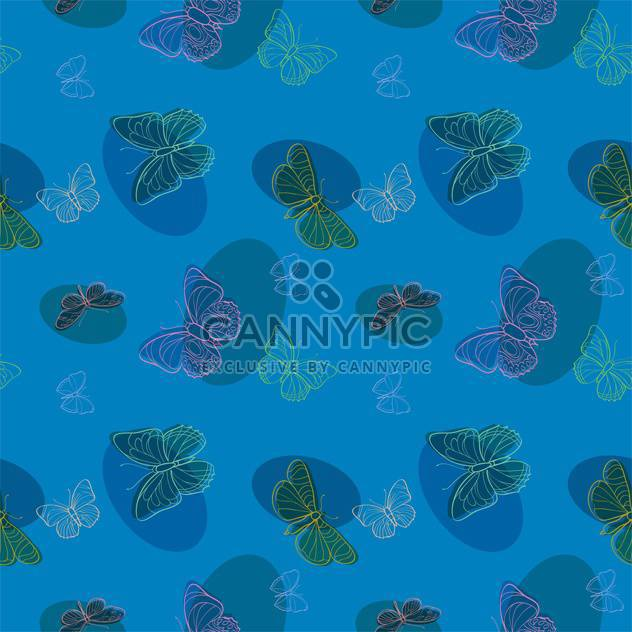 Vector illustration of seamless butterflies background - Free vector #127310