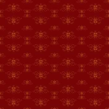 Vector vintage red background with floral pattern - Free vector #127350