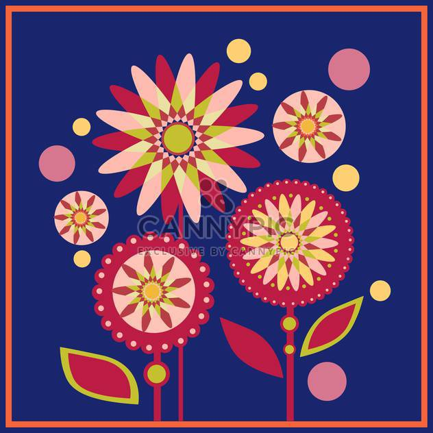 Floral vector pattern blue background - Free vector #127410