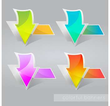 vector illustration of abstract colored banners with arrows - vector gratuit #127430