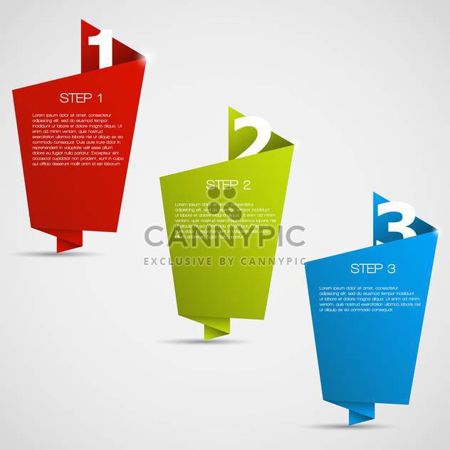 Web Design badges with text place on white background - Free vector #127450