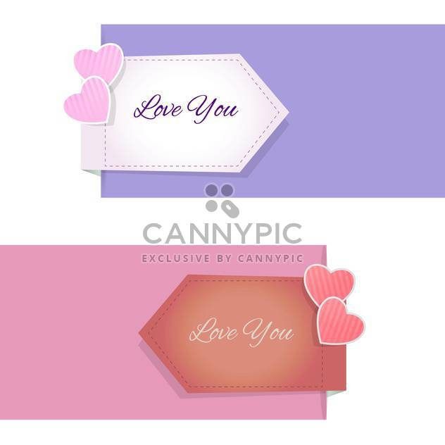 Valentinstag-Design-Elementen und Banner - Kostenloses vector #127500