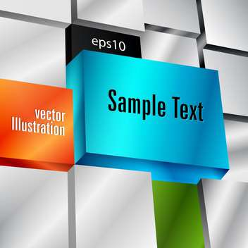 Vector background with cubes and text place - Free vector #127520