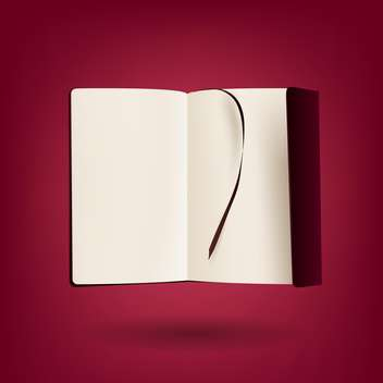 open book on red background with text place - vector #127530 gratis