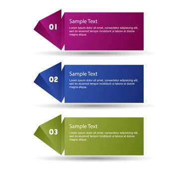 Vector set of colorful banners on white background - Free vector #127550
