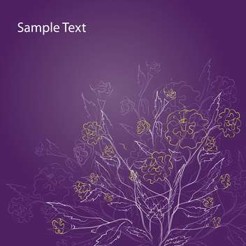 Purple Floral Background with floral art pattern - vector #127560 gratis