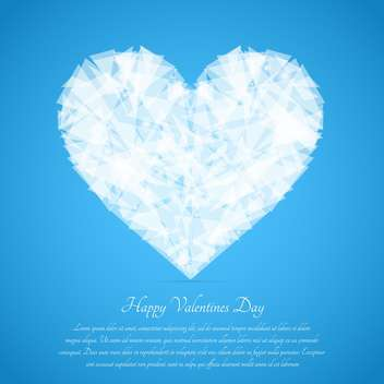 Glass broken heart on blue background for valentine card - бесплатный vector #127610