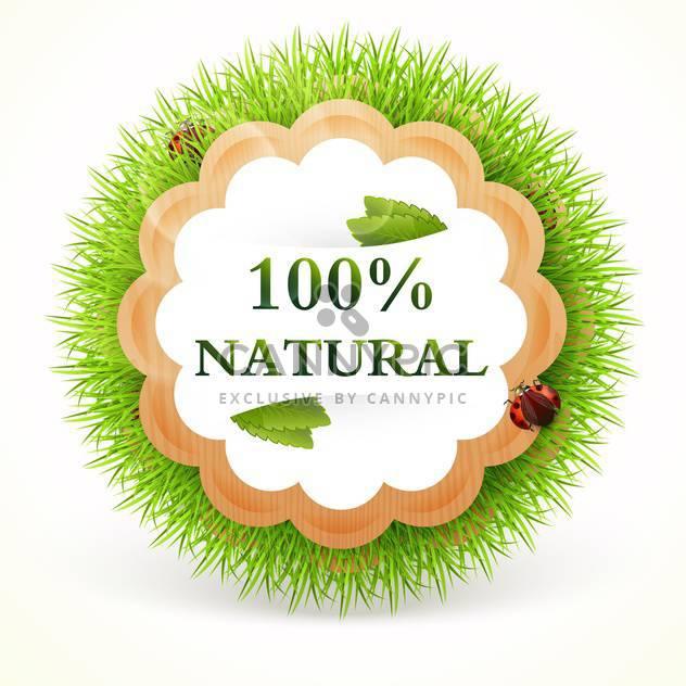 Vektor-Illustration von grünen Promo Sticker auf weißem Hintergrund - Free vector #127620