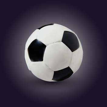 vector illustration of soccer game ball on dark background - Free vector #128070