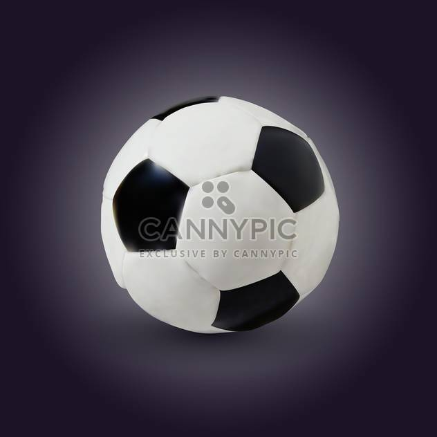 vector illustration of soccer game ball on dark background - Free vector #128070