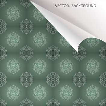 Vector vintage background with floral pattern - Free vector #128090