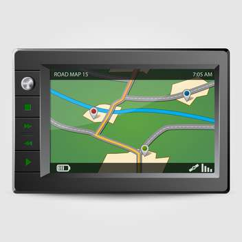 modern gps on grey background - vector #128110 gratis