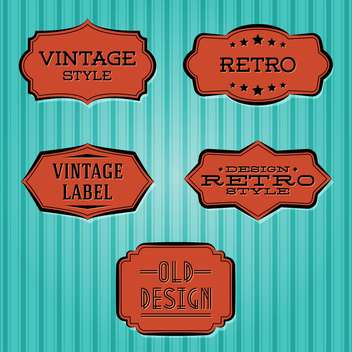 Vector collection of vintage and retro labels - vector gratuit(e) #128120